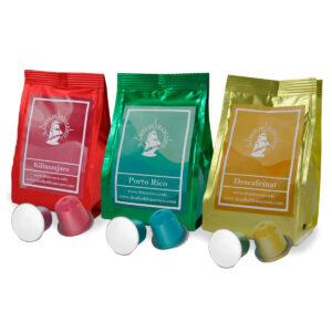 capsules portorico, descafeinat i kilimanjaro